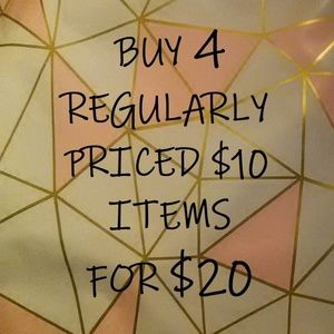 * 4 FOR $20 SALE *